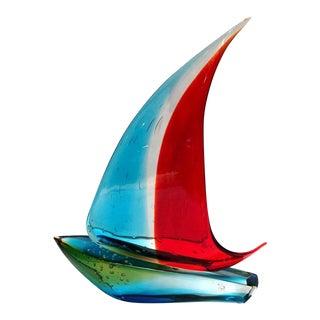 Sergio Costantini Sailboat Sculpture For Sale