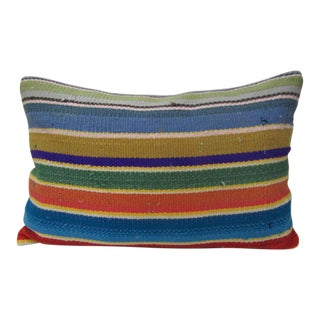 Turkish Colorful Traditional Kilim Pillow For Sale