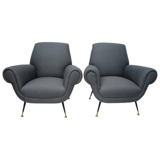 Pair of Italian Armchairs by Gigi Radice for Minotti For Sale