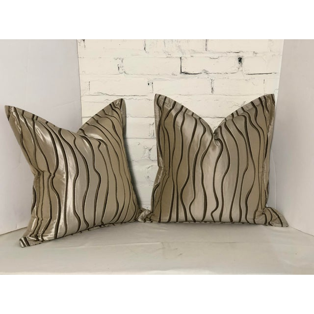 "Pair of 20"" Square Jim Thompson Pillows For Sale - Image 13 of 13"