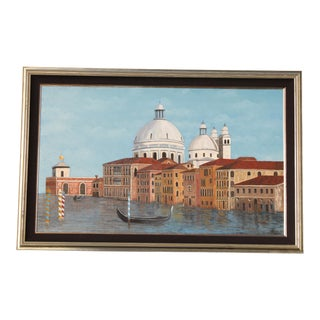 Venetian Canal Art Painting For Sale