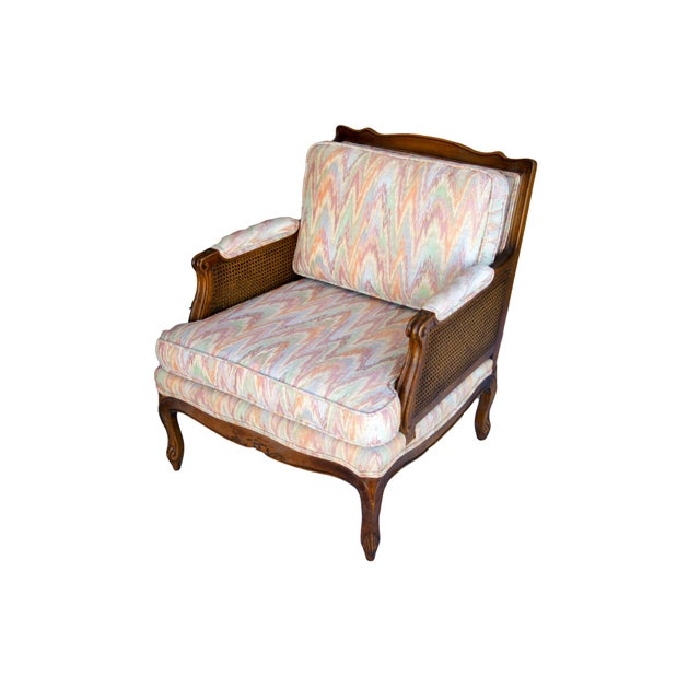Double-Caned Rainbow Chevron Chair - Image 2 of 6
