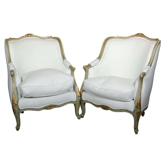 Louis XV Style Bergère by Jansen - A Pair - Image 1 of 10