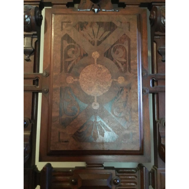 Renaissance Revival Mahogany Throne Chair For Sale - Image 6 of 9
