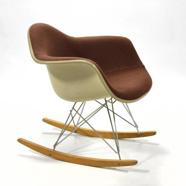 """Eames """"Baby Rocker"""" Rar by Herman Miller with Alexander Girard Upholstery For Sale - Image 10 of 11"""