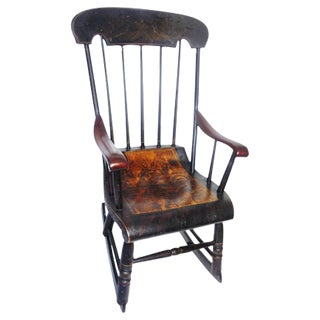 Early 19th Century Original Paint Decorated Rocking Chair For Sale