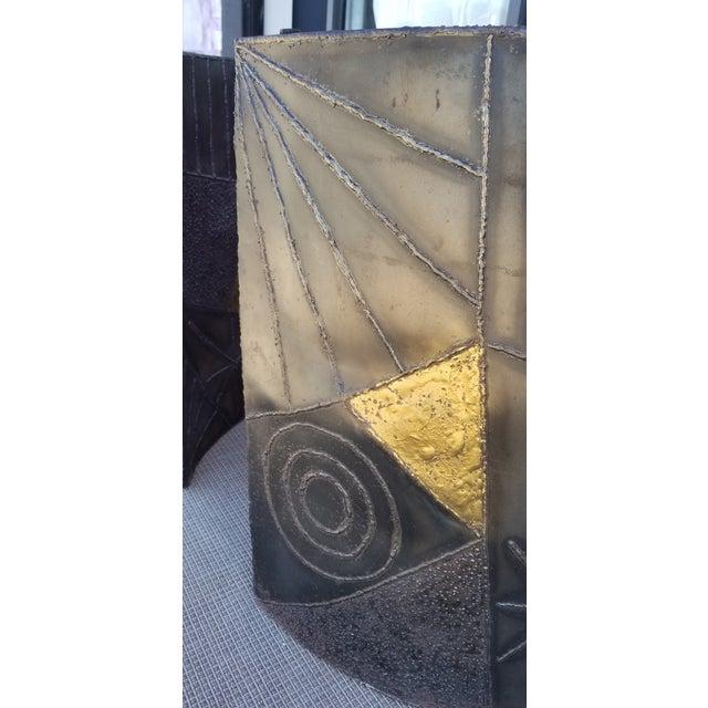 Brutalist Paul Evans Sculptural Dining Table Base - 2 Pieces For Sale - Image 11 of 13