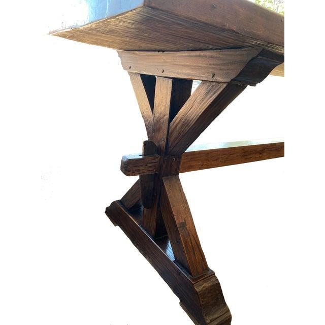19th Century Provençal Trestle Farm Table For Sale - Image 4 of 11