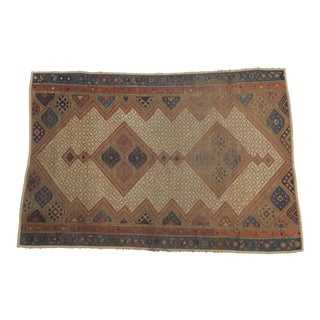 Vintage Persian Rug- 3′2″ × 4′12″ For Sale