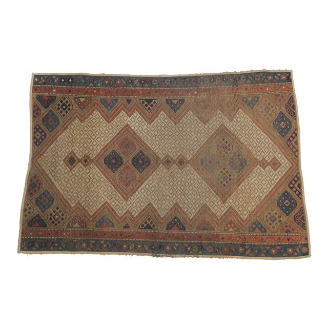 Vintage Persian Rug- 3′2″ × 4′12″ For Sale