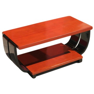 Art Deco Mahogany Coffee Table by Brown Saltman For Sale