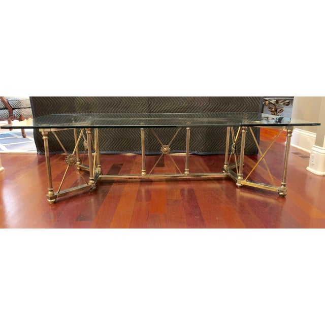 Gold Maison Jansen Style Coffee Table For Sale - Image 8 of 8