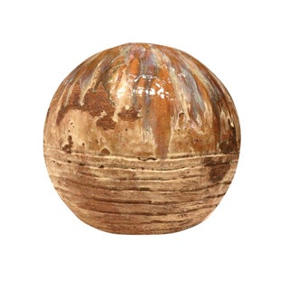 Modern Ceramic Orb Sculpture Handcrafted Pottery by Palm Springs Artist Mark Wade For Sale