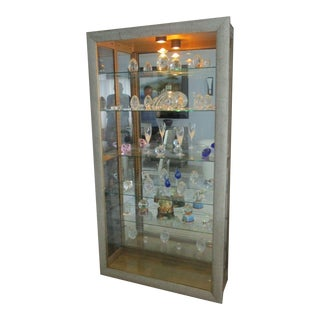 Philip Reinisch Company Watteau Lighted Curio Cabinet For Sale