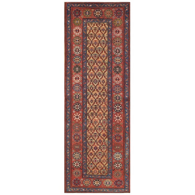 Textile Late 19th Century Antique Persian Rug For Sale - Image 7 of 7