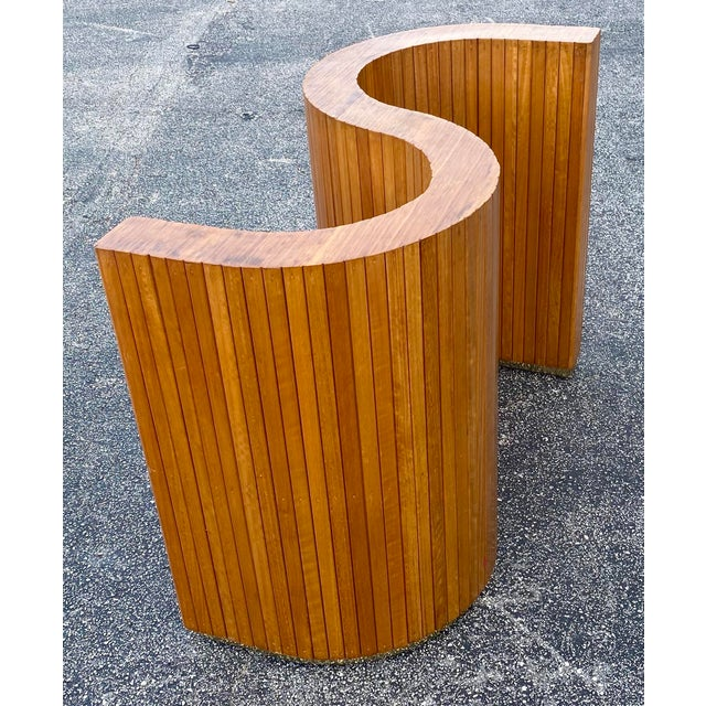 Mid 20th Century Custom Mid-Century Curved Table Base For Sale - Image 5 of 9
