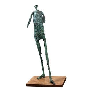 1990s George Mallett Verdigris Patina Bronze Sculpture For Sale