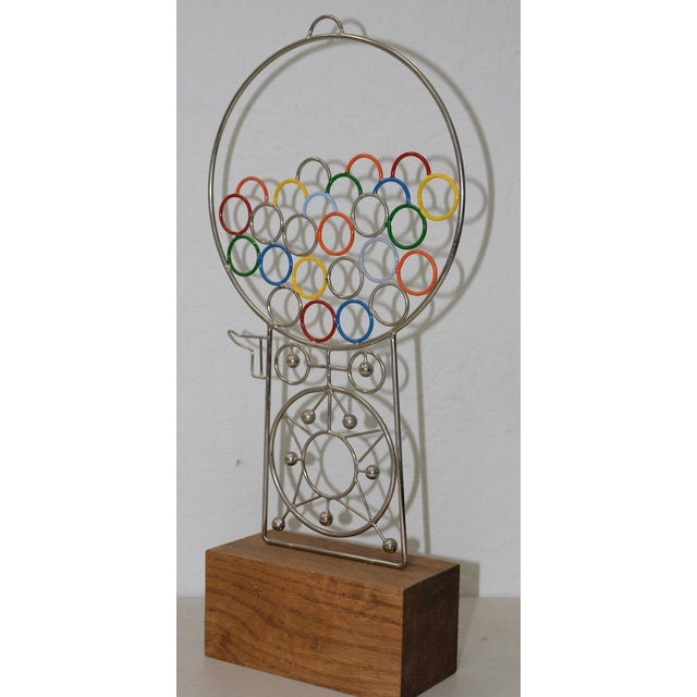 Mid 20th Century Joseph A. Burlini Kinetic Gumball Machine Sculpture C.1970s For Sale - Image 5 of 8