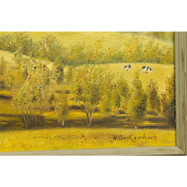 Provençal Pastoral Oil Painting - Image 7 of 7