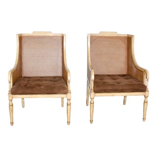 French Bergères Chairs by Sarreid For Sale