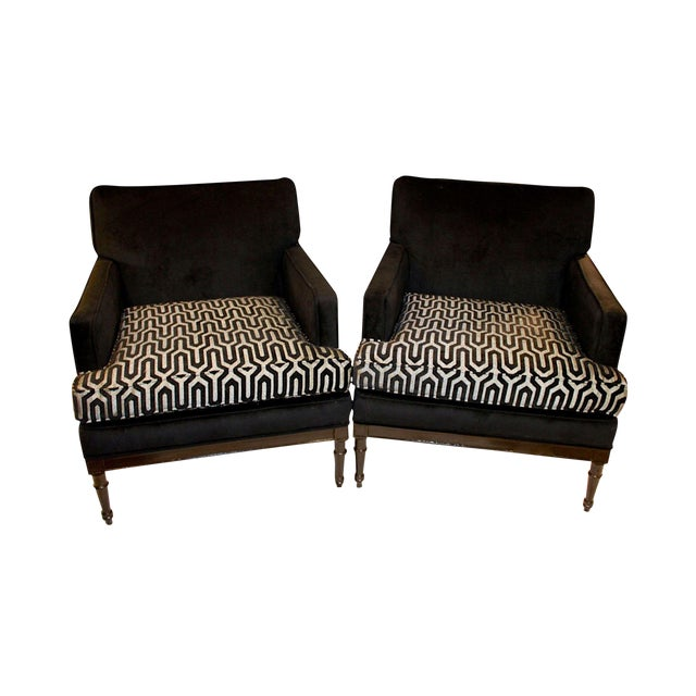 Vintage Mid-Century 1950s Club Chairs - A Pair For Sale