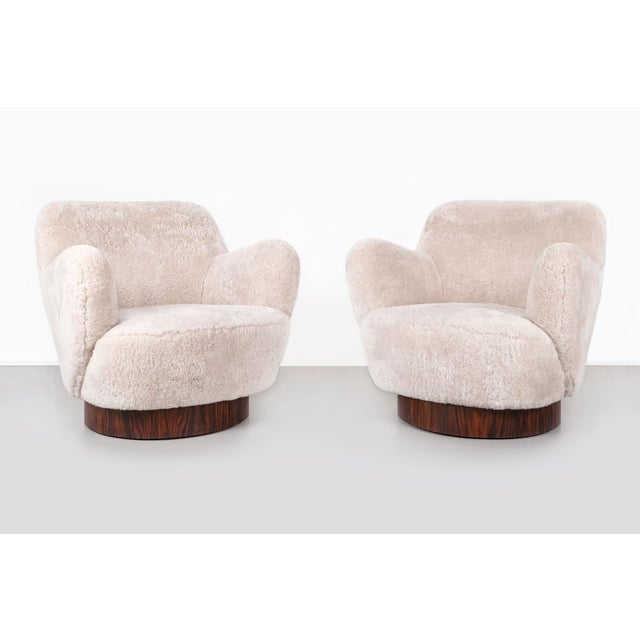 Set of Vladimir Kagan for Directional Swivel Chairs For Sale - Image 12 of 12