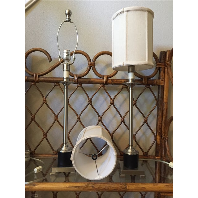 Candlestick Style Lamps - A Pair - Image 3 of 5