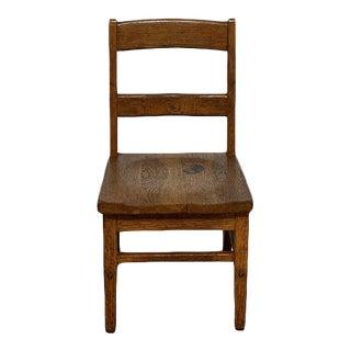 Vintage Mid Century Children's Oak Chair For Sale
