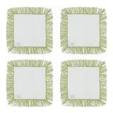 Image of Olive Fringe Cocktail Napkins - Set of 4 For Sale