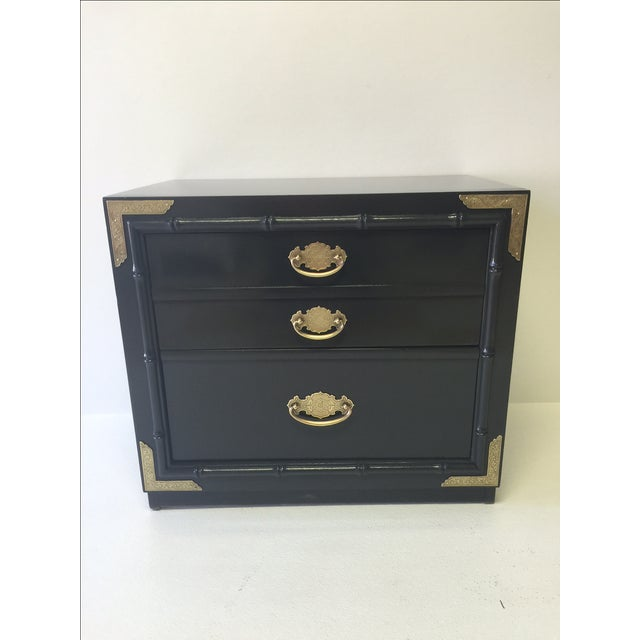 Huntley by Thomasville Lacquered Chest Side Table - Image 2 of 5
