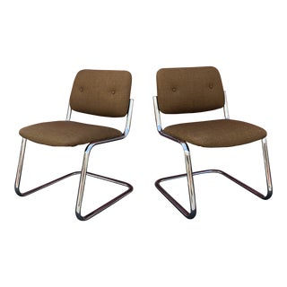 Mid-Century Modern All Steel Cantilever Chairs - a Pair For Sale