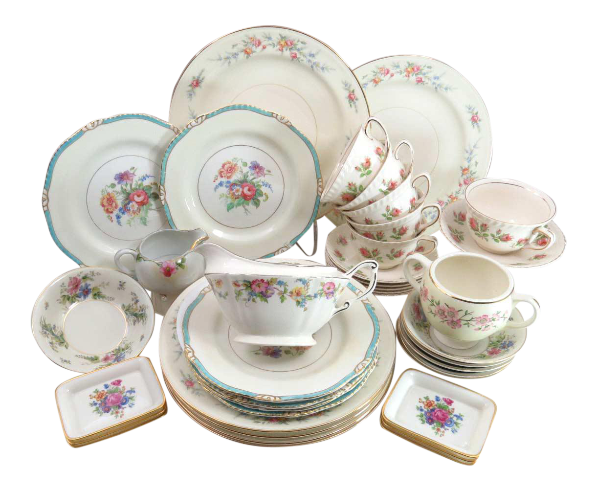 Vintage Mismatched Dinnerware Set Service for 6  sc 1 st  Chairish & Vintage Mismatched Dinnerware Set Service for 6 | Chairish