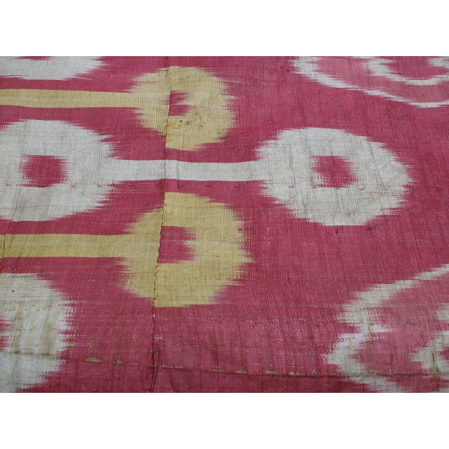 Late 19th Century Antique Silk Ikat Panel For Sale - Image 5 of 7