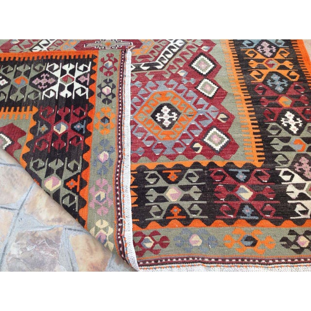Vintage Turkish Kilim Rug - 6′10″ × 10′ - Image 7 of 7