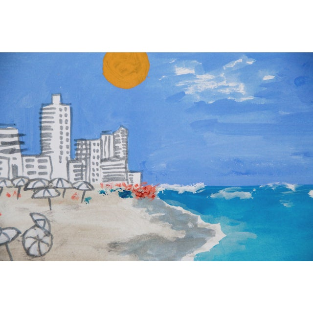Miami Beach Landscape Art Deco Beach Painting By Cleo