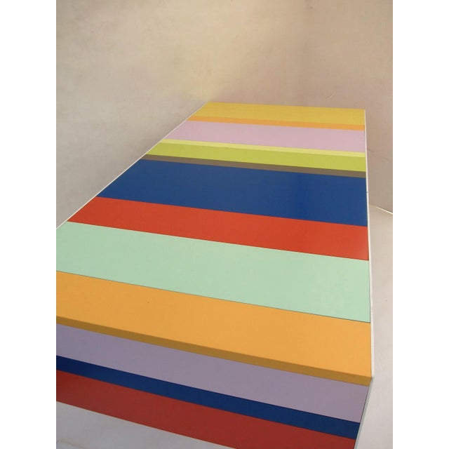 Late 20th Century Memphis Modern Style Multi Color Table Desk For Sale - Image 5 of 7