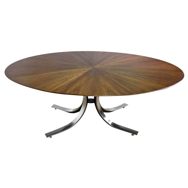 Borsani Dining Table Starburst Wood Top - 5 Avail. For Sale