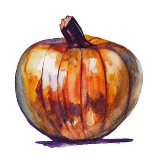 Orange Autumn Pumpkin Painting For Sale