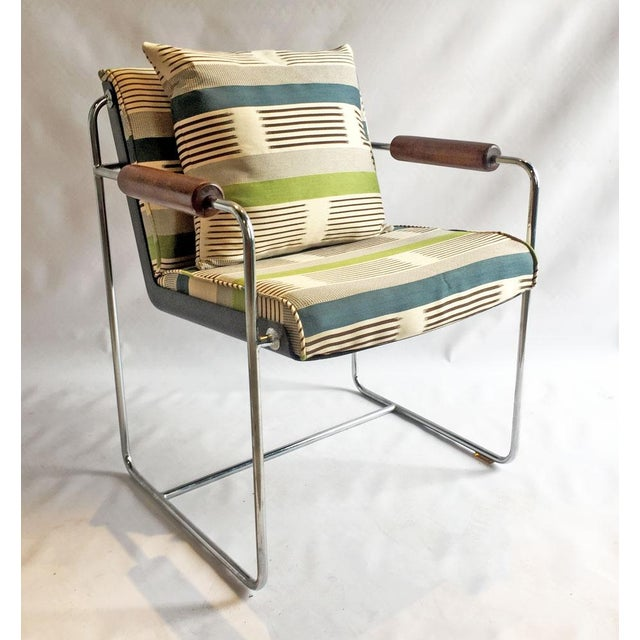 1960's Chrome Accent Chair - Image 2 of 6