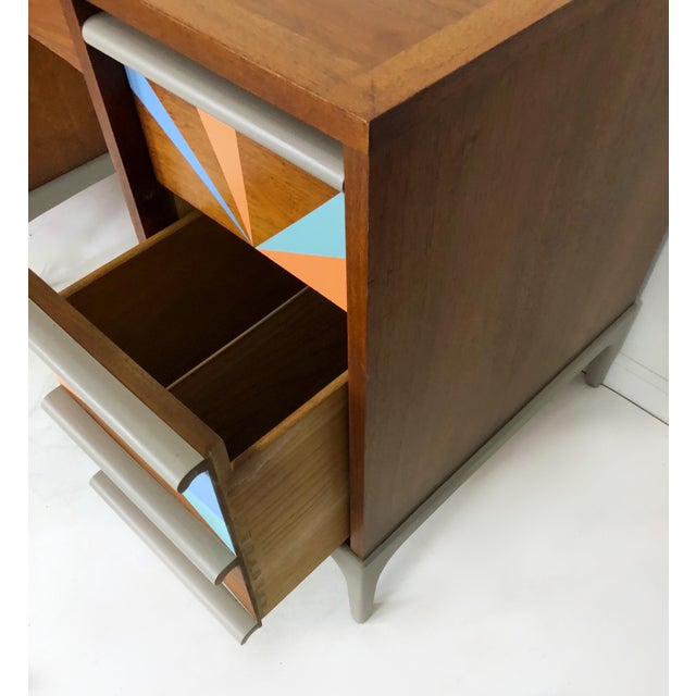1960s 1960s Vintage Lane Furniture Mid-Century Modern Desk & Chair - 2 Pieces For Sale - Image 5 of 8