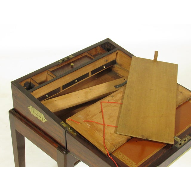 Gold 19th Century Regency Lap Desk on Stand For Sale - Image 8 of 11