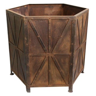 Iron Octagon Planter Box For Sale