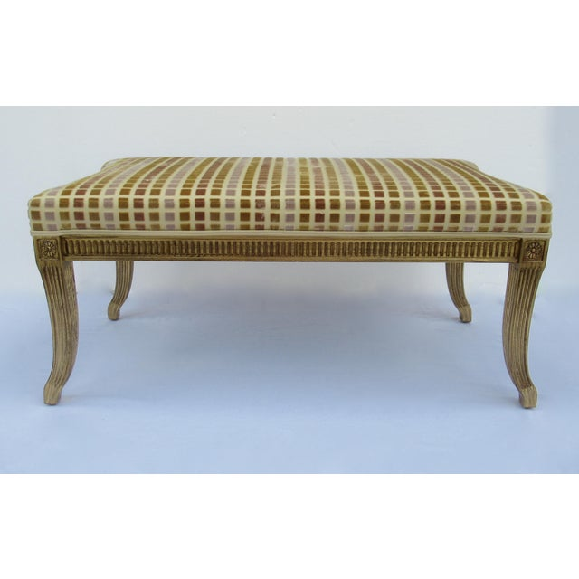 Gilt French Empire Style Interior Crafts Bench For Sale - Image 13 of 13