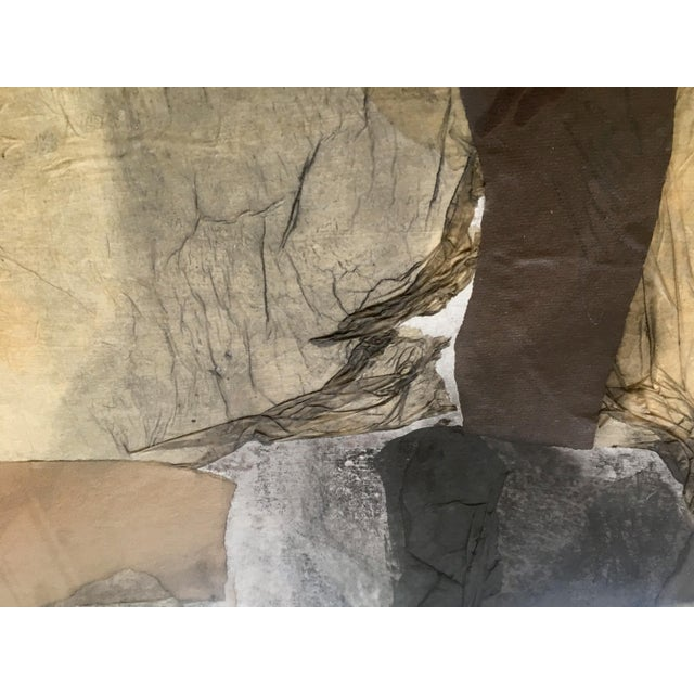 1962 Vintage Robert Kohls Abstract Pastel on Paper Collage For Sale In San Francisco - Image 6 of 7