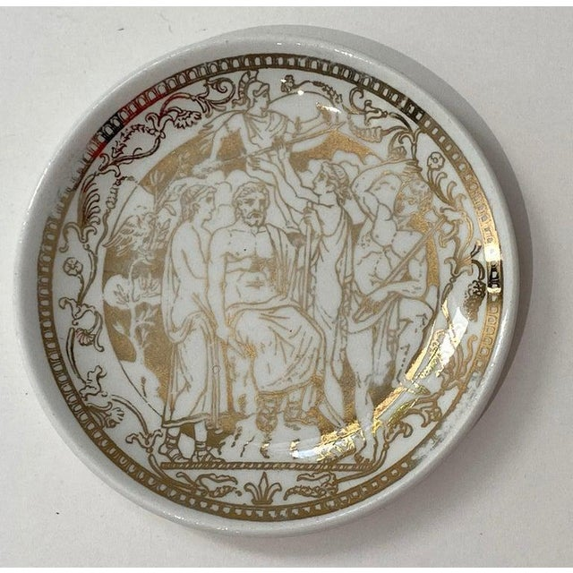 """Gold Mid-Century Modern Fornasetti """"Mitologia"""" Coasters - Set of 10 (8 Designs) For Sale - Image 8 of 13"""