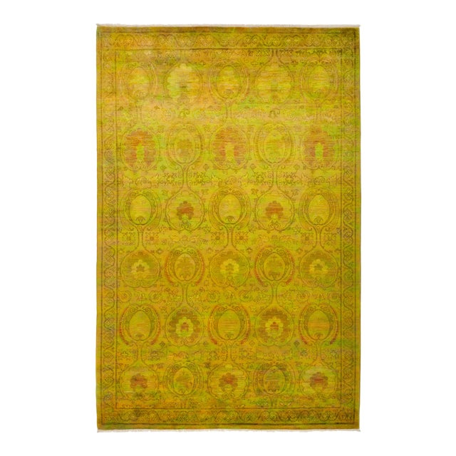 """Vibrance Hand Knotted Area Rug - 6' 1"""" X 9' 3"""" - Image 1 of 4"""