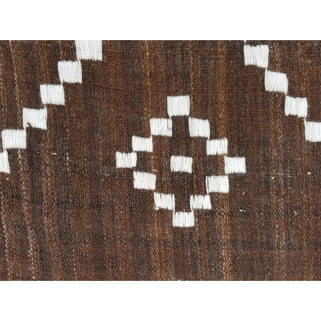 2010s Hand Woven Wool Bed Cover For Sale - Image 5 of 8
