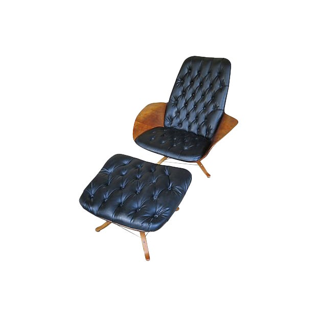 Amazing 1970S Vintage Lounge Chair Ottoman 2 Pieces Beatyapartments Chair Design Images Beatyapartmentscom