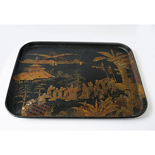 A difficult to find Chinorisie tray that would be perfect for a stand or to collect a special gathering.