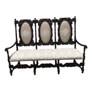 Mid 19th Century Carved French Settee For Sale